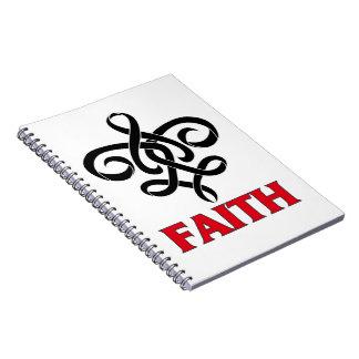 Melanoma Faith Fleur de Lis Ribbon Journals