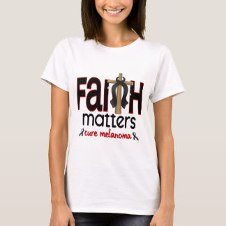 Melanoma Faith Matters Cross 1 T-Shirt
