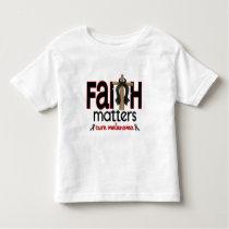 Melanoma Faith Matters Cross 1 Toddler T-shirt