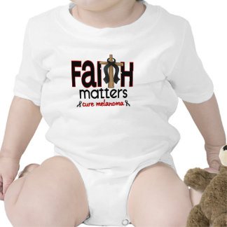Melanoma Faith Matters Cross 1 Rompers