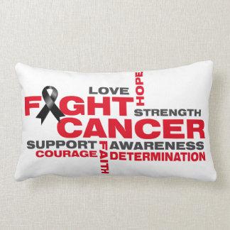 Melanoma Fight Collage Throw Pillows