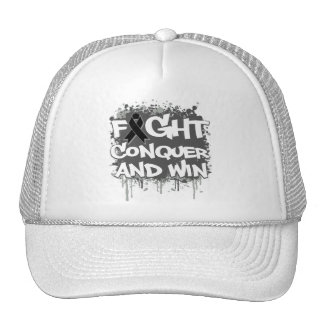 Melanoma Fight Conquer and Win Trucker Hat