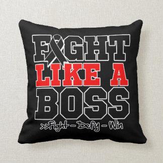 Melanoma Fight Like a Boss Pillow