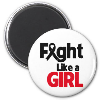 Melanoma Fight Like a Girl 2 Inch Round Magnet
