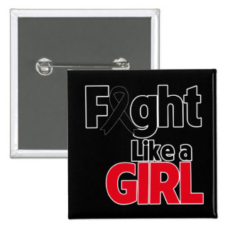Melanoma Fight Like a Girl 2 Inch Square Button