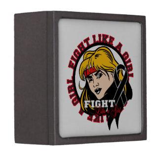 Melanoma Fight Like A Girl Attitude Premium Gift Boxes