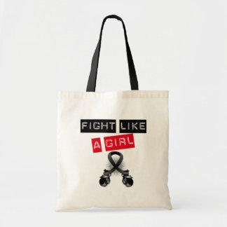 Melanoma Fight Like A Girl Budget Tote Bag