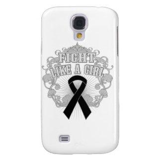 Melanoma Fight Like A Girl Fleurish Samsung Galaxy S4 Case