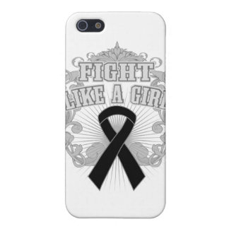 Melanoma Fight Like A Girl Fleurish Cover For iPhone 5