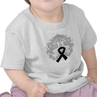 Melanoma Fight Like A Girl Fleurish T Shirt