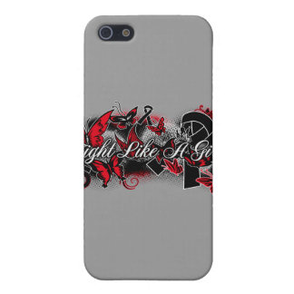 Melanoma Fight Like A Girl Grunge Butterfly iPhone 5 Covers