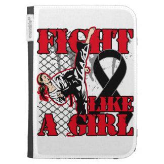 Melanoma Fight Like A Girl Kick. Kindle Covers