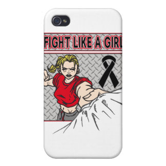 Melanoma Fight Like A Girl Punch iPhone 4/4S Cover