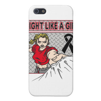 Melanoma Fight Like A Girl Punch iPhone 5 Cases