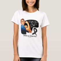 Melanoma Fight Like a Girl Rosie The Riveter T-Shirt