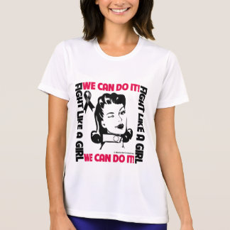 Melanoma - Fight Like A Girl - We Can Do It Tee Shirt