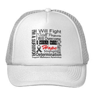 Melanoma Fight Persevere Overcome Win Trucker Hat