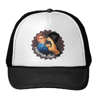 Melanoma Fighter Gal Trucker Hat