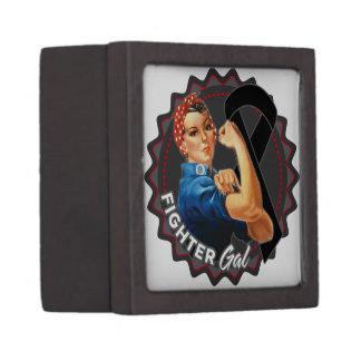 Melanoma Fighter Gal Jewelry Box