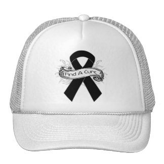 Melanoma Find A Cure Ribbon Trucker Hat