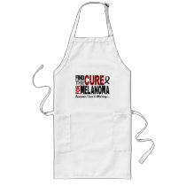 Melanoma FIND THE CURE 1 Long Apron