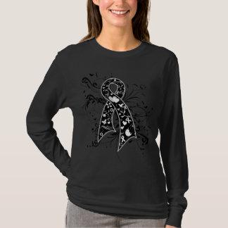 Melanoma Floral Swirls Ribbon T-Shirt