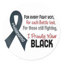 Melanoma For Every…..I Proudly Wear Black 1 Classic Round Sticker