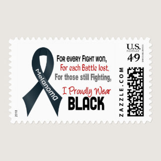 Melanoma For Every…..I Proudly Wear Black 1 Postage