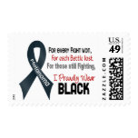 Melanoma For Every…..I Proudly Wear Black 1 Stamps
