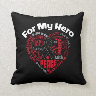 Melanoma For My Hero Throw Pillows