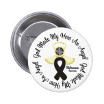 Melanoma God Made My Hero An Angel Pinback Buttons
