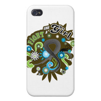 Melanoma Groovy Fight Like A Girl iPhone 4 Cases