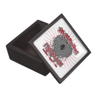 Melanoma Heart I Fight Like A Girl Premium Jewelry Box