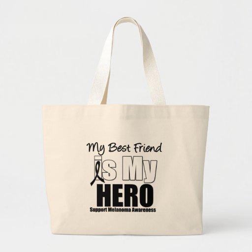 Melanoma Hero Best Friend Tote Bags
