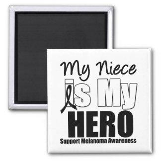 Melanoma Hero Niece Refrigerator Magnet
