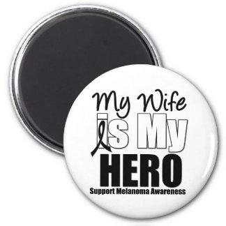Melanoma Hero Wife Magnets