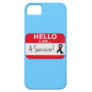 Melanoma hola soy un superviviente iPhone 5 carcasa