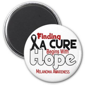Melanoma HOPE 5 2 Inch Round Magnet