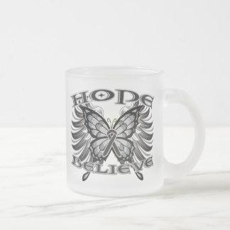 Melanoma Hope Believe Butterfly copy Coffee Mug