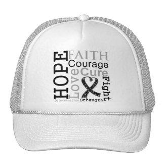 Melanoma Hope Faith Motto Trucker Hat