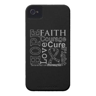 Melanoma Hope Faith Motto iPhone 4 Cover