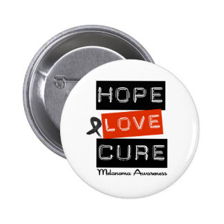 Melanoma Hope Love Cure Pinback Button