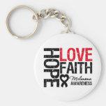 Melanoma Hope Love Faith Keychain