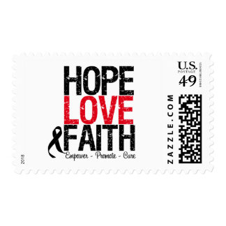 Melanoma Hope Love Faith Stamp