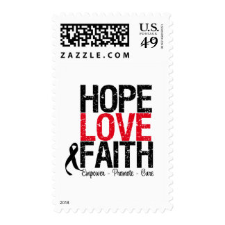 Melanoma Hope Love Faith Stamps
