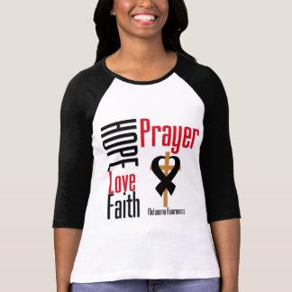 Melanoma Hope Love Faith Prayer Cross T-Shirt