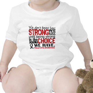 Melanoma How Strong We Are Baby Bodysuits