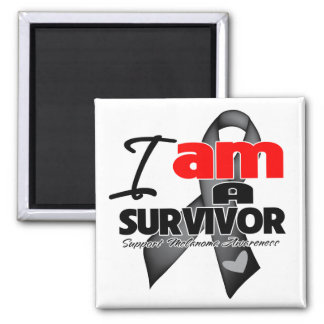 Melanoma - I am a Survivor 2 Inch Square Magnet