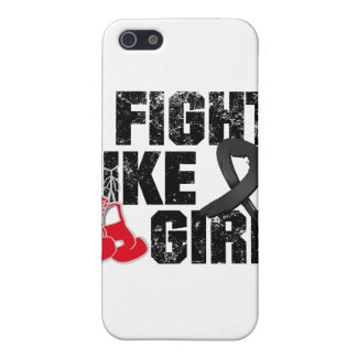 Melanoma I Fight Like A Girl (Grunge) Covers For iPhone 5
