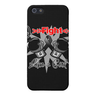 Melanoma I Fight Like a Girl With Gloves Covers For iPhone 5
